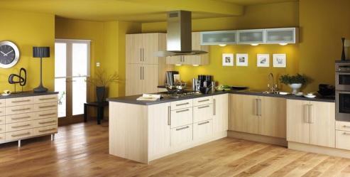 kitchen yellow modern designs bright