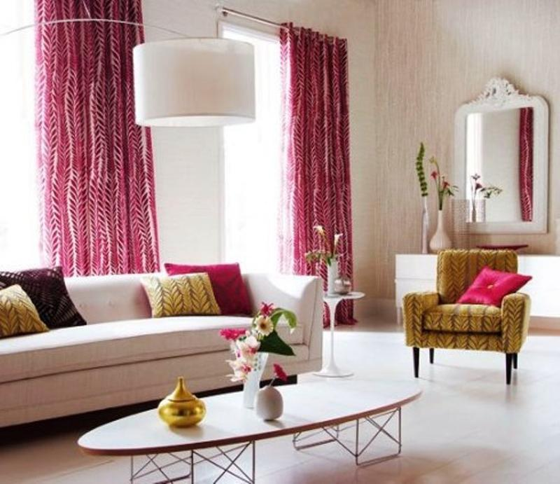 how to design curtains for living room nice color 15 lively and colorful curtain ideas the rilane