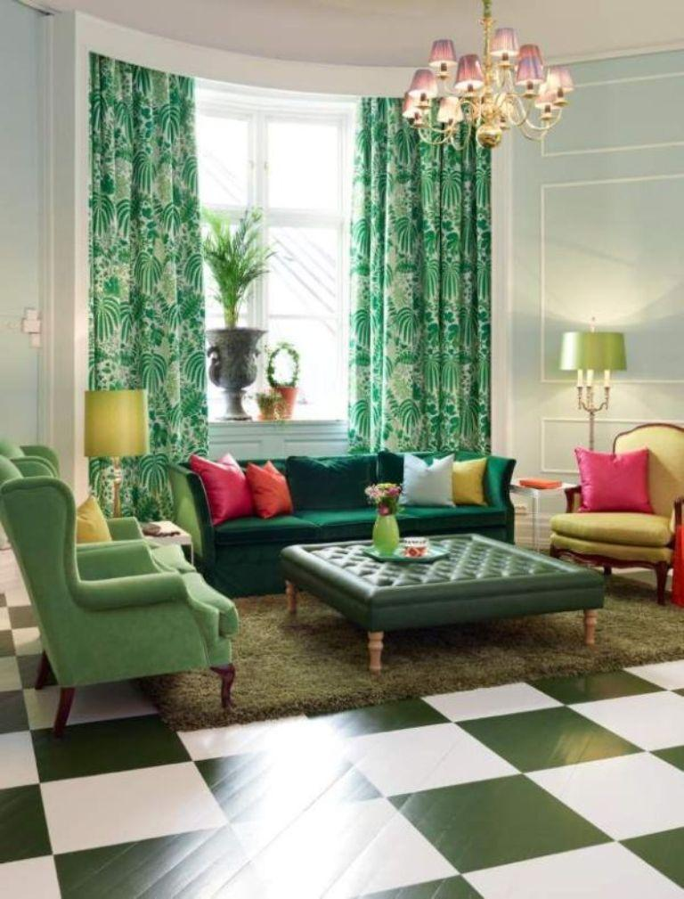 green curtains for living room suites 15 lively and colorful curtain ideas the rilane lime floral