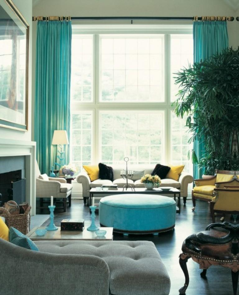 15 Lively And Colorful Curtain Ideas For The Living Room Rilane