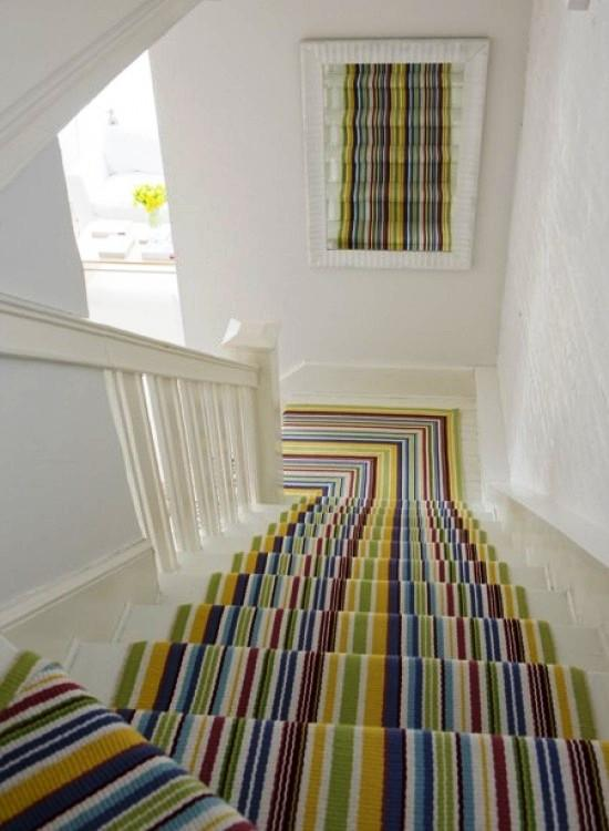 15 Striped Stairs Runners Designs For The Hallway Rilane
