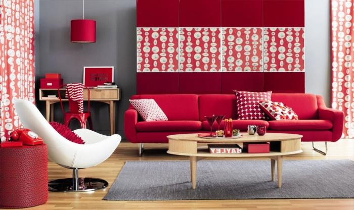 red and white living room black rugs for 15 themed rooms rilane grey dotted