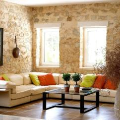 Wall Pictures Living Room What Color To Paint With Grey Sofa 15 Designs Natural Stone Walls Rilane Stunning