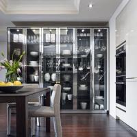 15 Charming Kitchen Designs with Glass Cabinets - Rilane