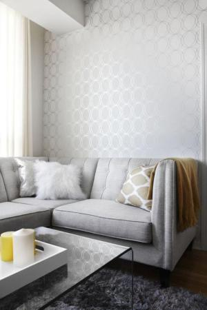 living elegant geometric rooms silver geomtrical gray simple yellow contemporary paper grey rilane digest architectural wallpapersafari uploaded user