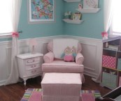 blue and pink girls bedroom