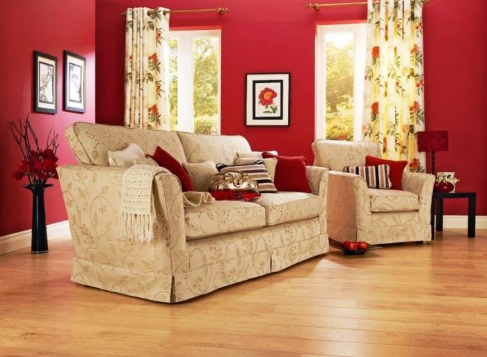 wall colors for living rooms gray and yellow room ideas 15 solid color with paintings rilane amazing red painting elegant sofa
