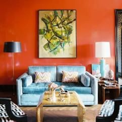 Orange Living Room Schemes Grey Sofas Ideas 15 Lively Design Rilane Beautiful