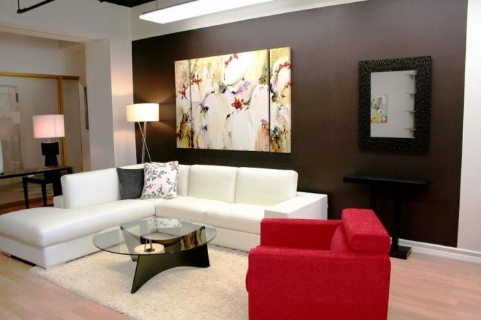 black and red living room decorating ideas home interior design photos 15 solid color rooms with wall paintings - rilane