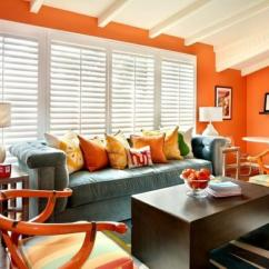 Orange Living Room Decorating Ideas Cafe And Bistro 15 Lively Design Rilane