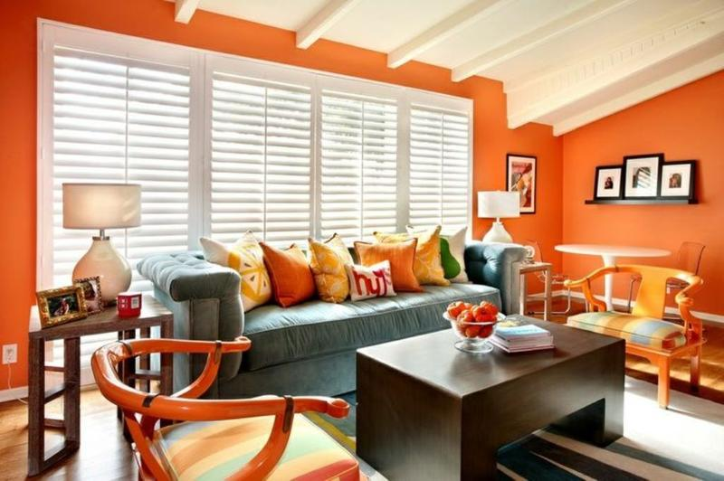 orange living room schemes storage ideas for 15 lively design rilane