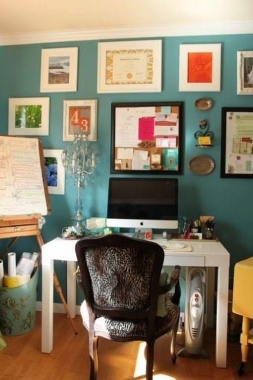Fancy Turquoise Home Office