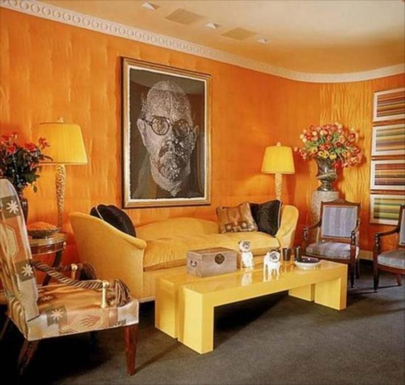 15 Lively Orange Living Room Design Ideas