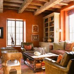 Brown And Orange Living Room Blue Grey 15 Lively Design Ideas Rilane Rustic