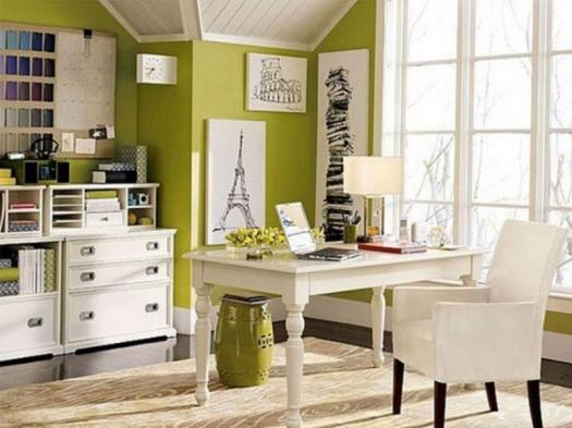 Vibrant Green Home Office