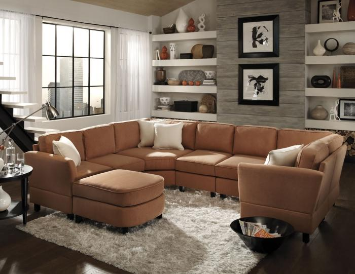 leather sectionals for small living rooms wall tiles room mumbai 15 organized with sectional sofas rilane warm brown