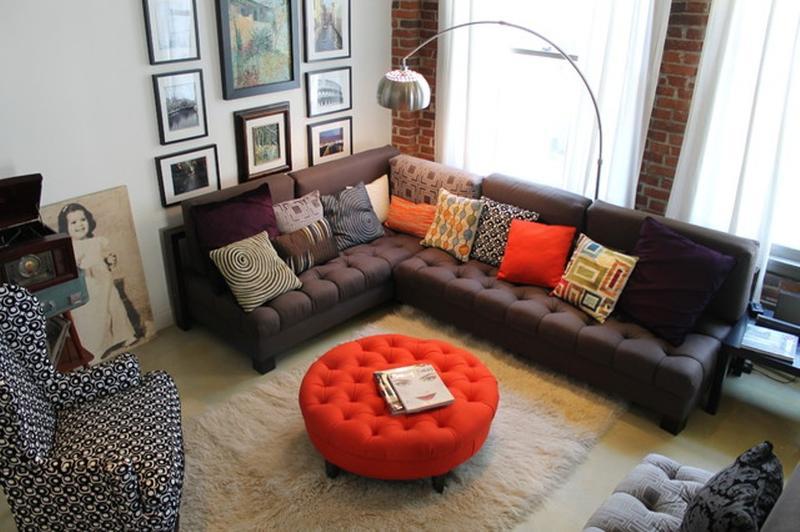 urban industrial living room