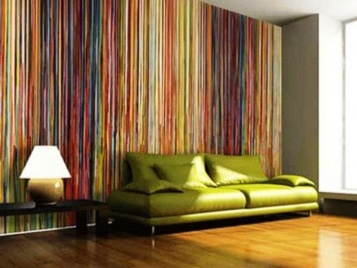 10 Inspiring Living Rooms with Striped Walls