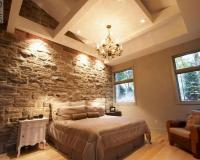 15 Natural Bedrooms with Stacked Stone Wall