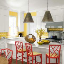 Red Kitchen Chairs Under Cabinet Shelving 10 Lively Colorful Chair Ideas Rilane