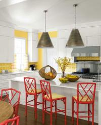 10 Lively Colorful Kitchen Chair Ideas - Rilane