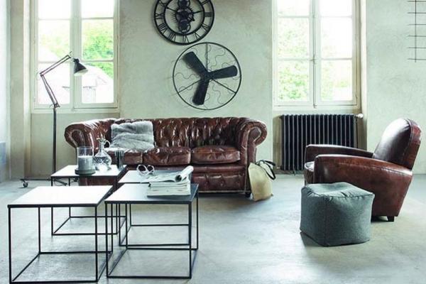 industrial design living room furniture 15 Stunning Industrial Living Room Designs - Rilane