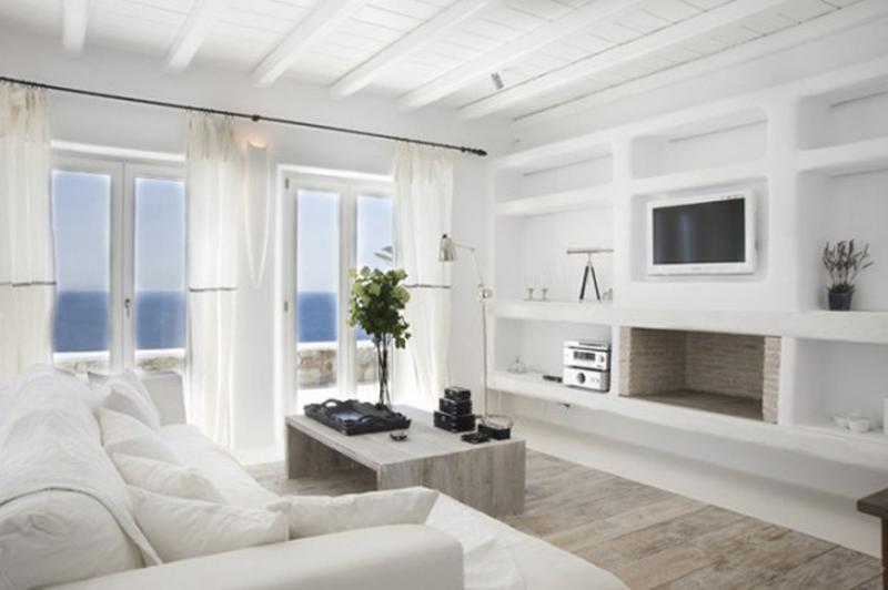 white marble living room