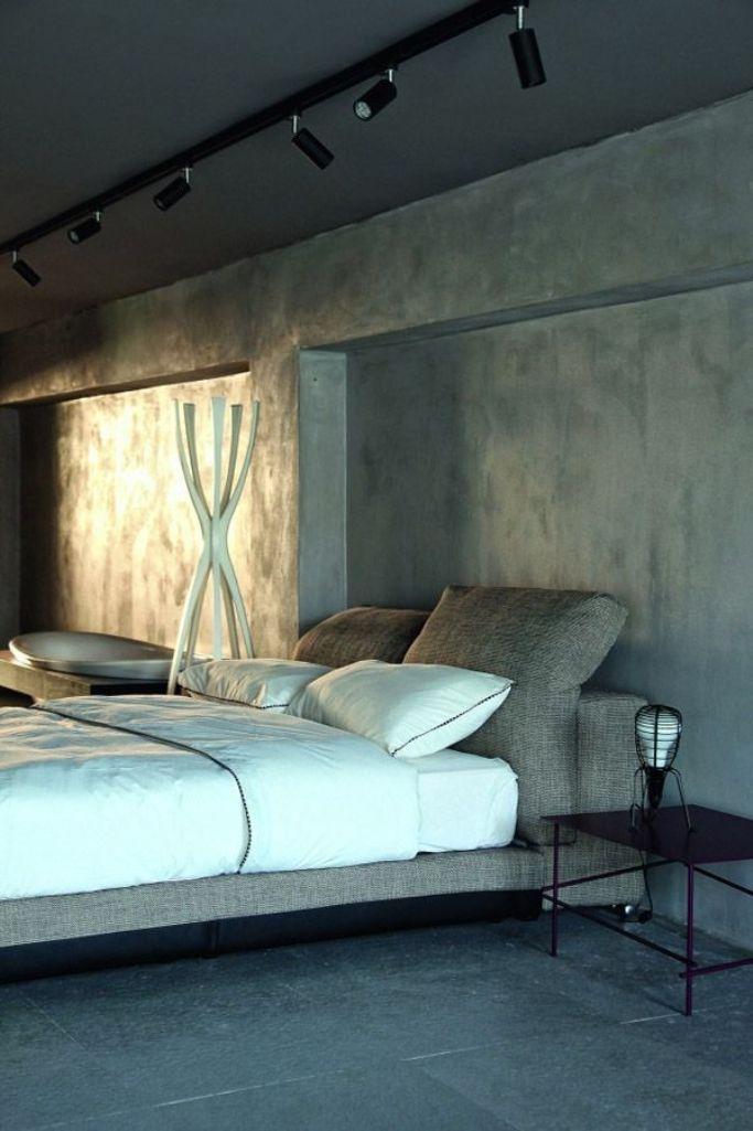 20 Bold Bedroom Designs with Concrete Walls  Rilane