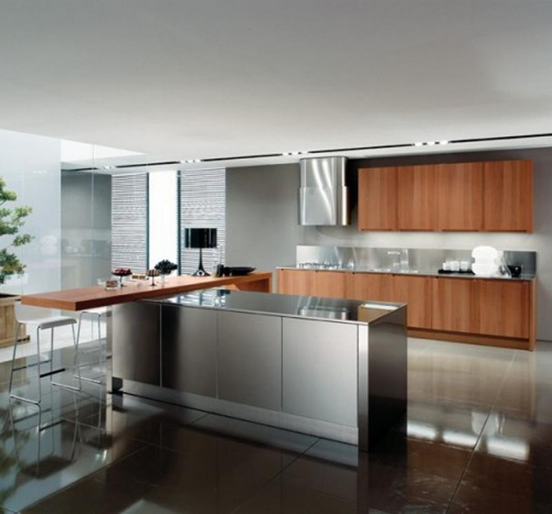 metal kitchen cabinet subway tile 15 contemporary designs with stainless steel cabinets rilane
