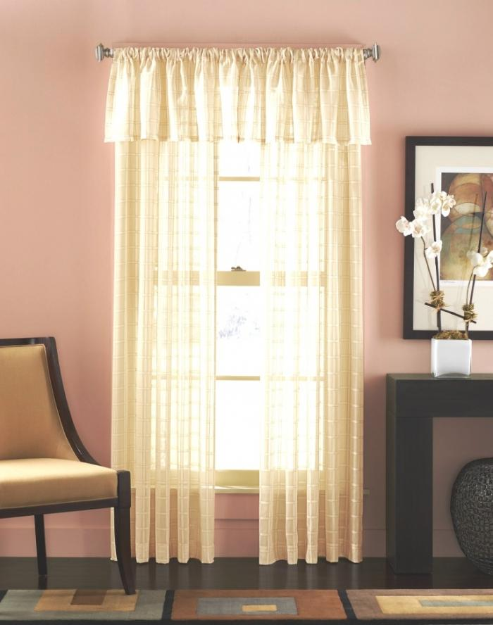sheer curtain ideas for living room how to set up a 15 delightful designs the rilane beautiful printed cream curtains