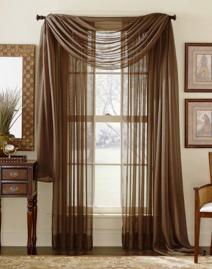 sheer curtain ideas for living room rooms designs small space 15 delightful the rilane brown themed french door curtains