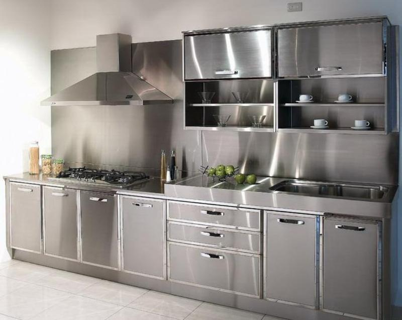 stainless kitchen how to protect hardwood floors in 15 contemporary designs with steel cabinets rilane modern