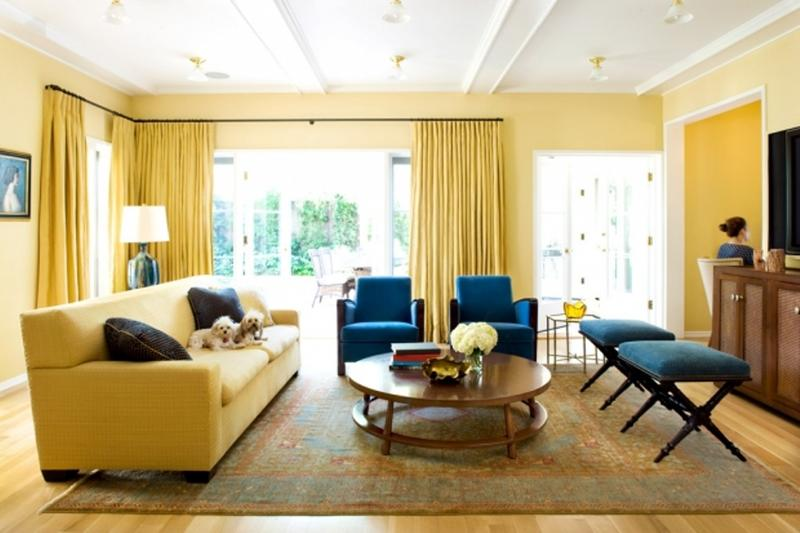 yellow and blue living rooms Thecreativescientistcom