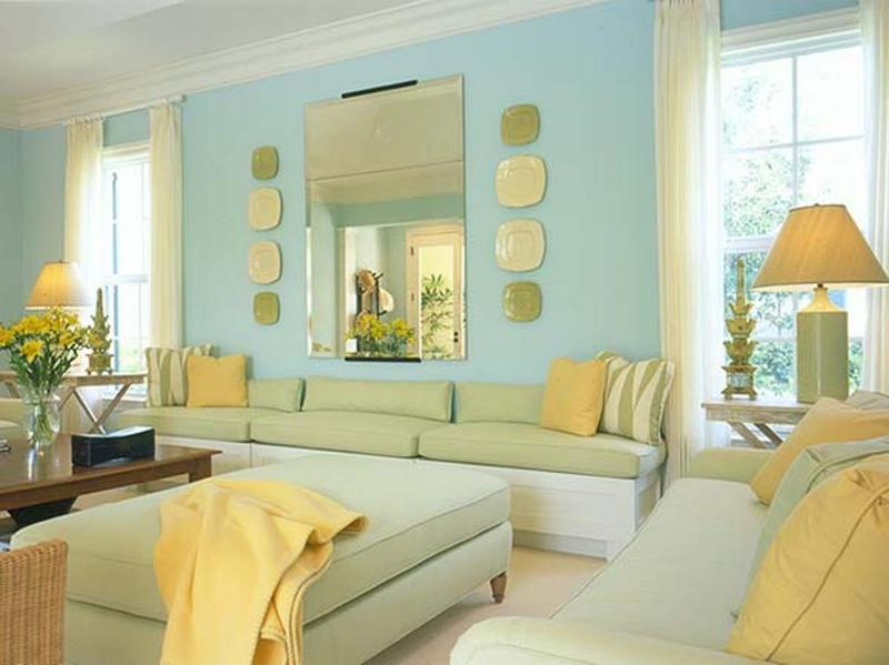 20 Charming Blue And Yellow Living Room Design Ideas Rilane Part 50