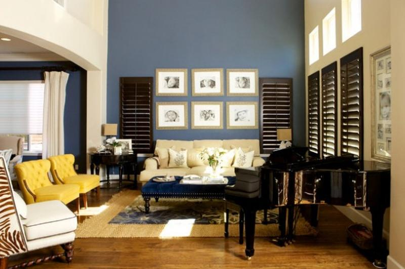 20 Charming Blue And Yellow Living Room Design Ideas Rilane Part 73