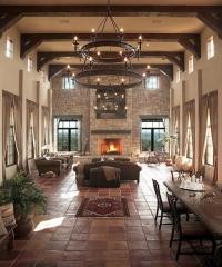 10 Fascinating High Ceiling Living Rooms with Chandelier ...