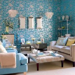 Decorating A Living Room With Navy Blue Furniture Design My Apartment 30 Elegant And Chic Rooms Damask Wallpaper ...