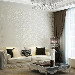 Wall Paper For Living Room Unique Colors Rooms 30 Elegant And Chic With Damask Wallpaper Rilane Splendid