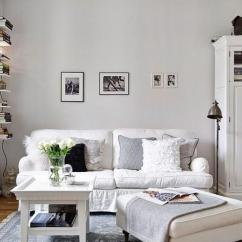 Ideas For A Small Living Room Pictures Lime Green Color 23 To Inspire You Rilane All White Scheme With Light Hardwood Floor And Lots Of Texture Is The Ultimate Key Decorating
