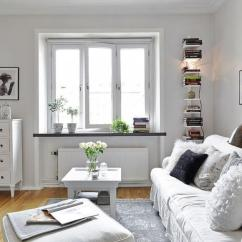 For Living Room Small Corner Wall Units 23 Ideas To Inspire You Rilane Big Window In The Center Of White Chic Is A Wining Point Elevating Primal Light And Ambiance