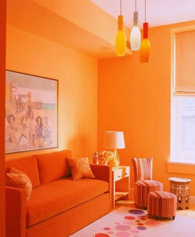 orange living room schemes flowers colour scheme in exquistie 23 design ideas rilane monochromatic