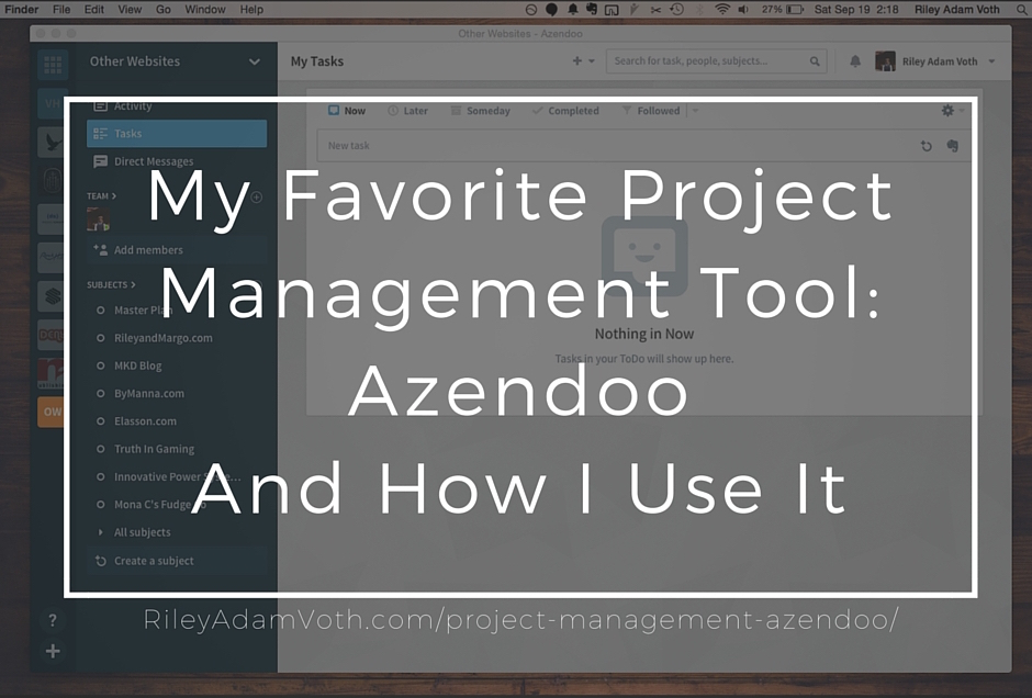 Project Management Azendoo App Riley Adam Voth Blog