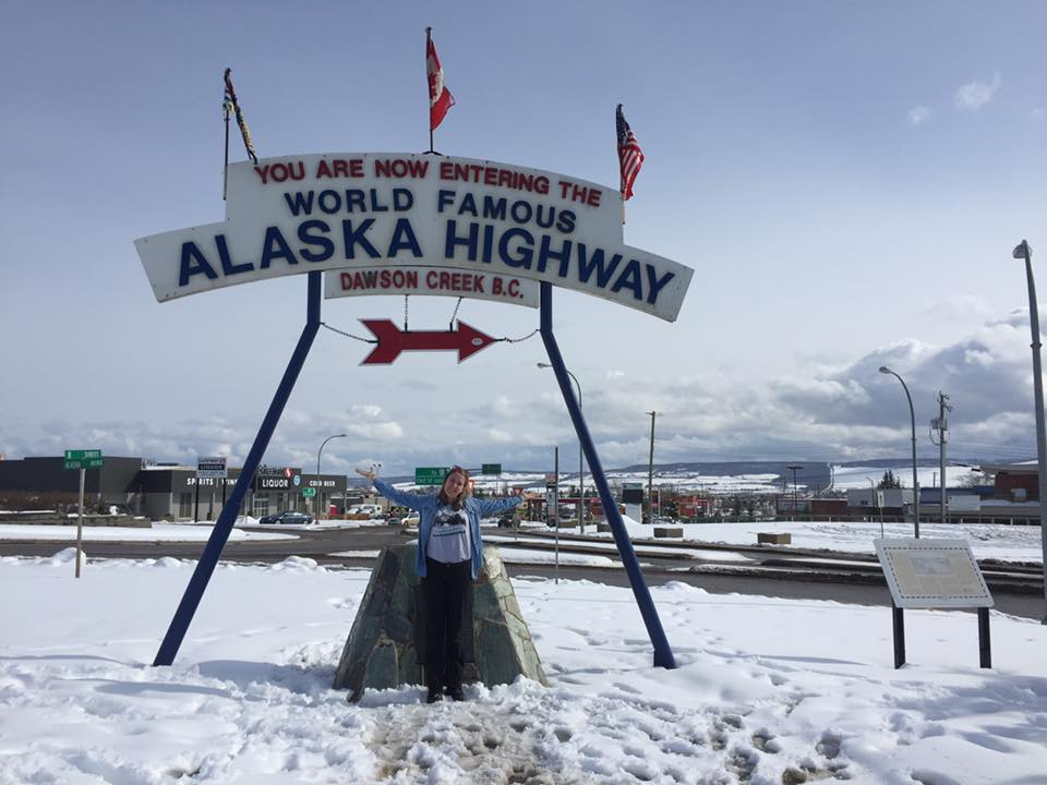 Riley excited to finally begin the Alaska Highway drive