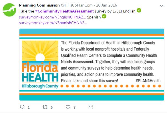 social media management public health board accreditation phab mph research community