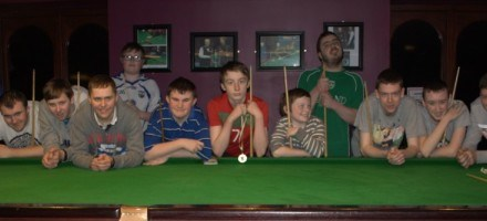 Stars Academy Ireland Snooker Scholarship Day 2 for Group 1 in Sharkx Newbridge 2014