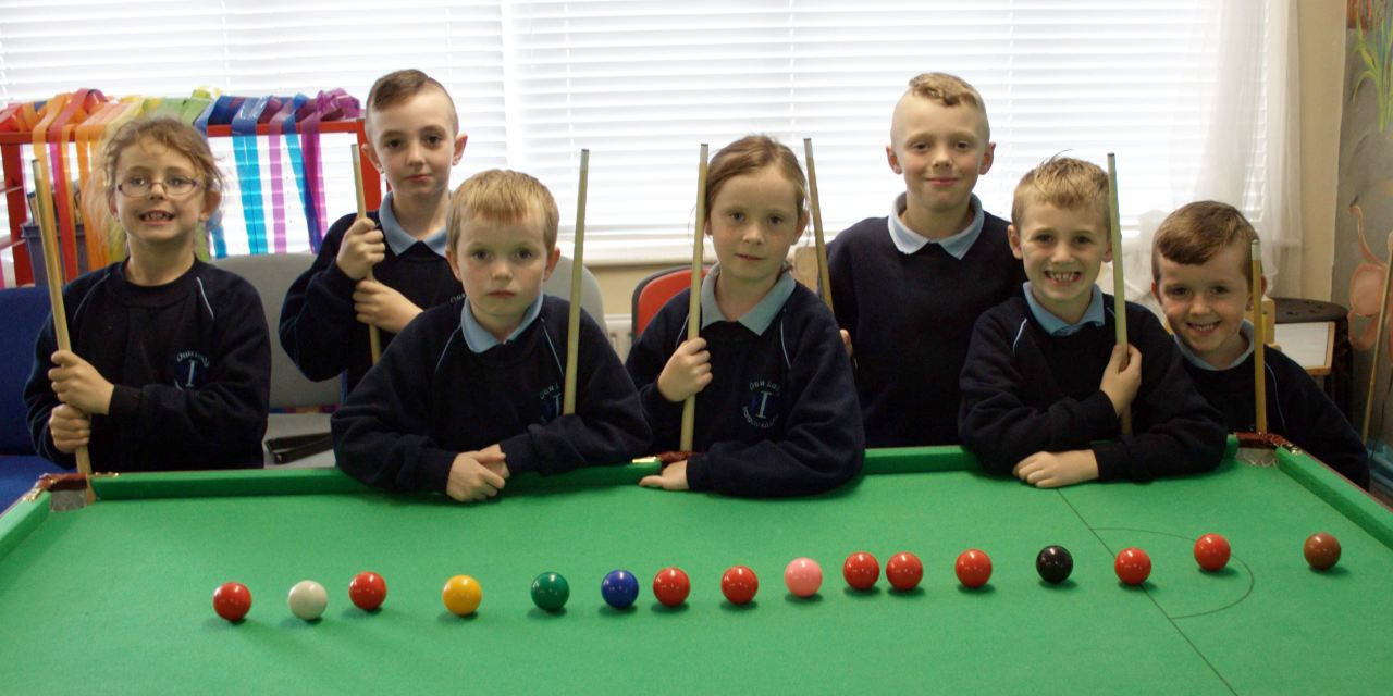 6 Year old Brook Potter is RILSA's youngest player to take to the Green Baize