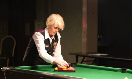 Sandra Bryan makes history in Ennis at the National Ladies Pool Championship