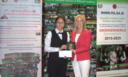 Jeong Min Park from South Korea wins RILSA Intermediate International Irish Open Title in Dublin