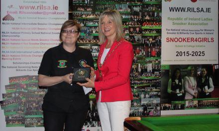 Tina Keogh wins Irish Ladies International 6 Red Event at Joey's Dublin