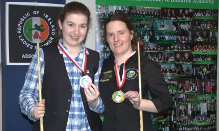 Christine Carr takes Inaugural Kildare County Snooker Championship at Sharkx